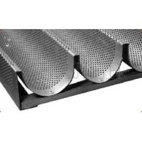 Листы волнистые перфорированные, 10 волн, черная сталь